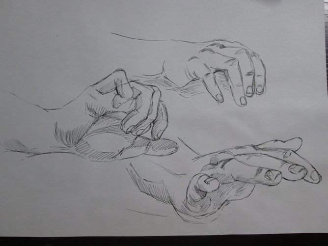 漫画の人体の描き方 部分的な描写