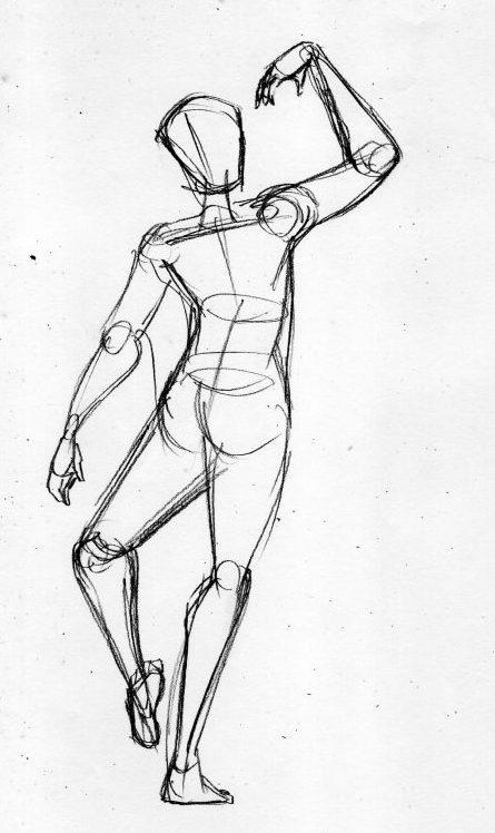 漫画の人体の描き方 大きめの紙にのびのび描く