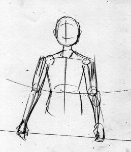 漫画の体の描き方 等身