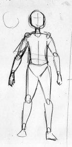 漫画の体の描き方 アタリ