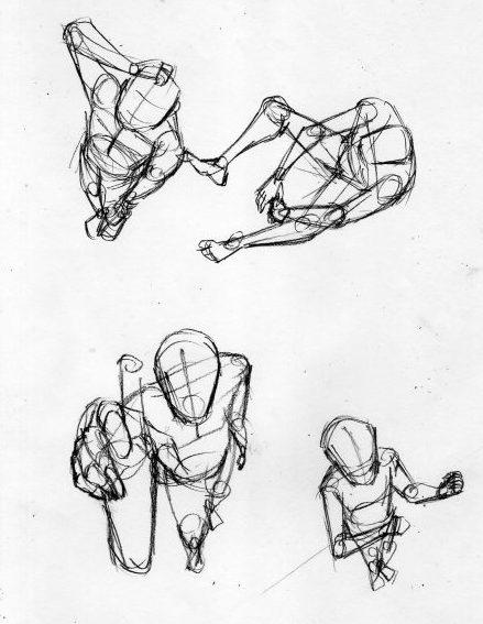 漫画の人体の描き方 フカン