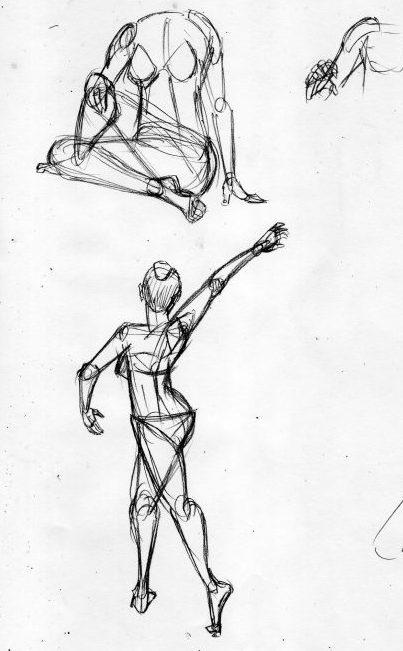 漫画の人体の描き方 動きを描く