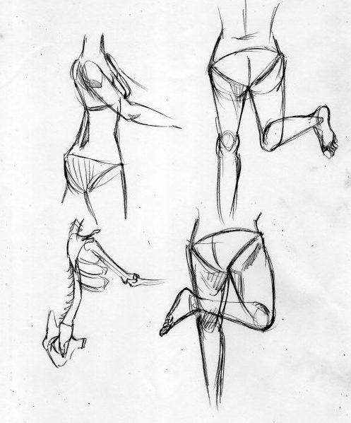 漫画の人体の描き方 部分的に描く