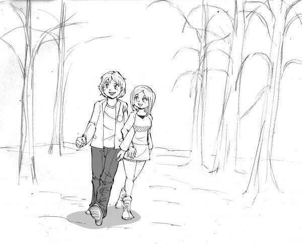 散歩 イラスト
