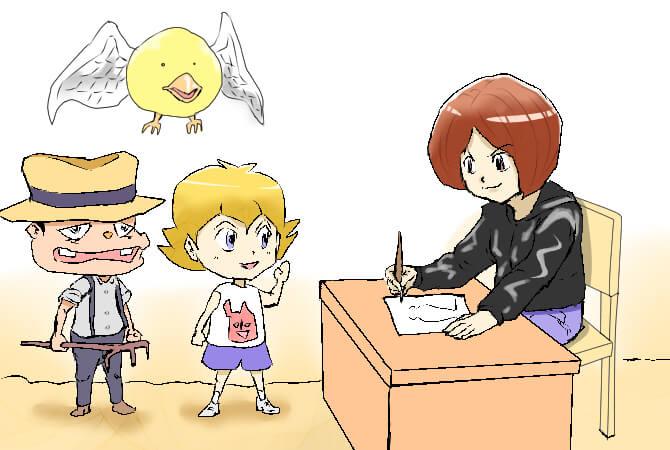漫画,独学,キャラクター創作のイラスト