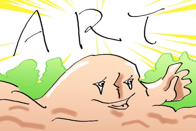 ブログで絵を描く
