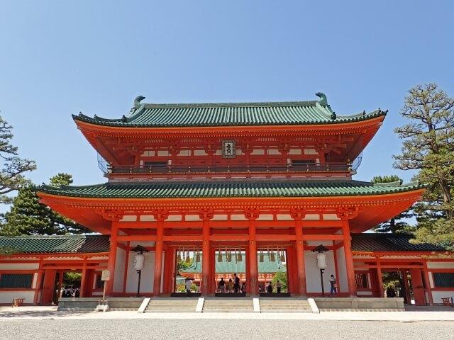 平安神宮の応天門の画像