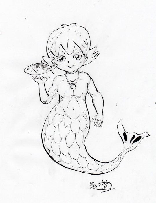 人魚,キャラクター