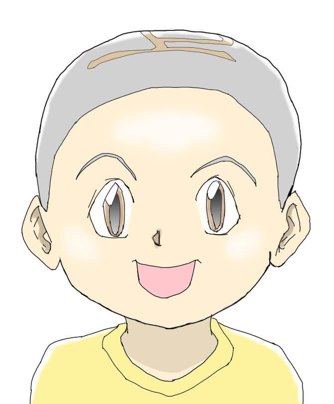 漫画少年のイラスト