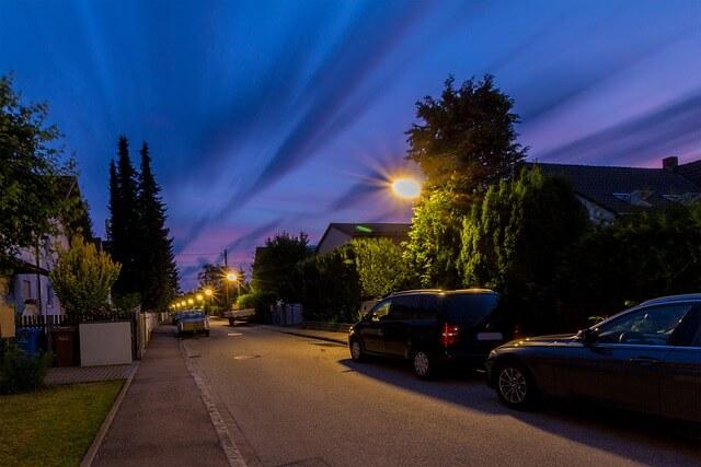 夜道,歩く時