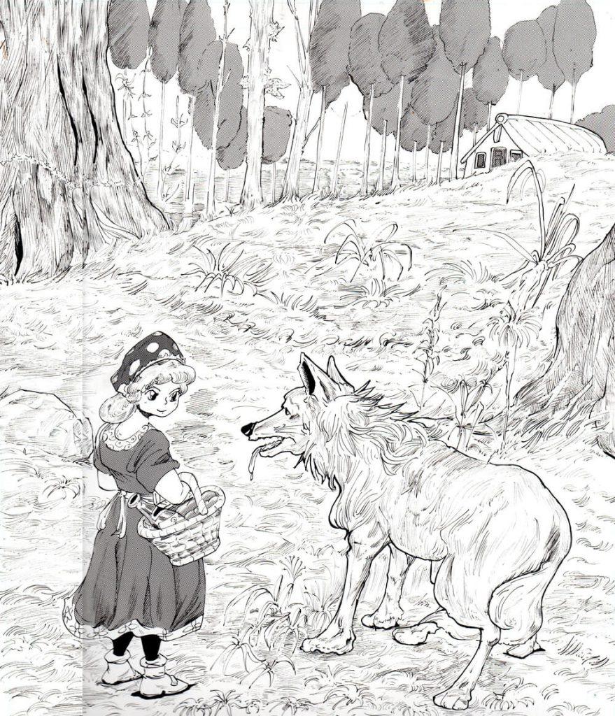 赤ずきん,イラスト,狼